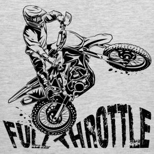 Off-Road Motocross Dirt Bike Full Throttle T-Shirts - Men's Premium Tank
