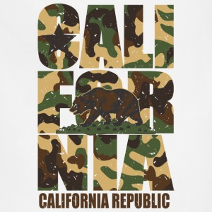 California Bear Vintage Camo Camouflage T-Shirts - Adjustable Apron