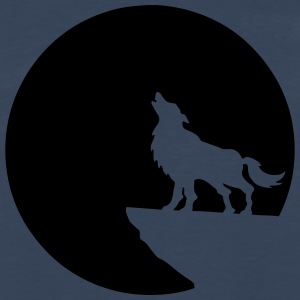 wolf moon T-Shirts - Men's Premium Long Sleeve T-Shirt
