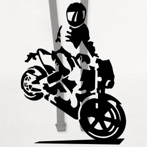 motorcycle stunt T-Shirts - Contrast Hoodie