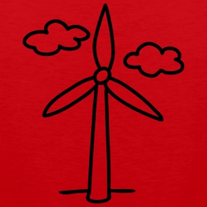 windmill - wind turbine T-Shirts - Men's Premium Tank