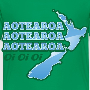 AOTEAROA OI OI OI NEW ZEALAND map  Kids' Shirts - Toddler Premium T-Shirt