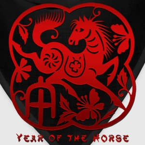 Year of The Horse Paper Cut T-Shirt - Bandana
