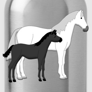 horse and foal white Kids' Shirts - Water Bottle