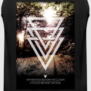 mystic forest triangles T-Shirts - Men's Premium Tank
