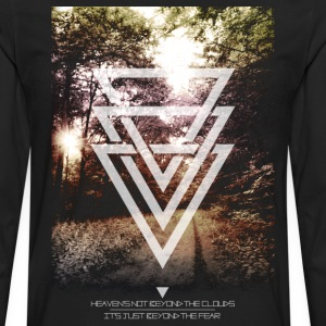 mystic forest triangles T-Shirts - Men's Premium Long Sleeve T-Shirt