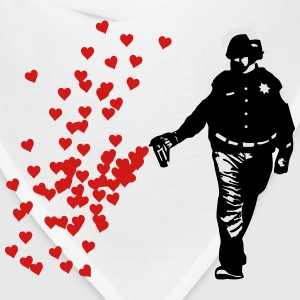Stencil Police - Street Art Pepper Spray Cop heart T-Shirts - Bandana