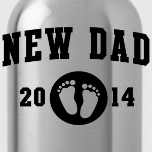New Dad baby feet 2014 T-Shirts - Water Bottle