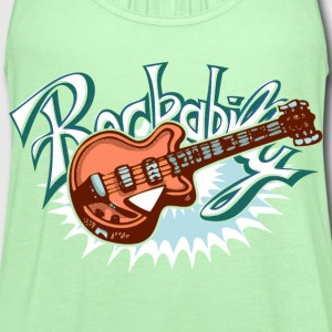 rockabilly logo T-Shirts - Women's Flowy Tank Top by Bella