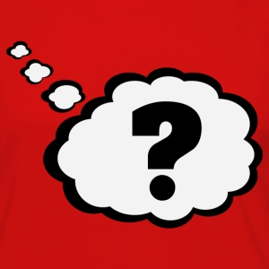 Question mark in Thought Bubble Shirt - Women's Premium Long Sleeve T-Shirt