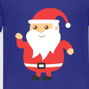cute and jovial santa for Christmas Kids' Shirts - Toddler Premium T-Shirt