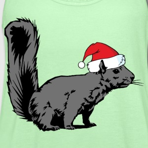 Christmas Squirrel - Women's Flowy Tank Top by Bella