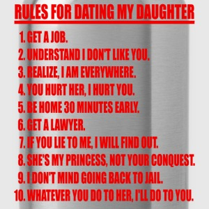 Rules For Dating My Daughter Red & Black T-shirt - Water Bottle