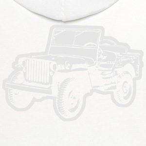 Willys Jeep (diff. color) T-Shirts - Contrast Hoodie