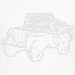 Willys Jeep (diff. color) T-Shirts - Men's Premium Long Sleeve T-Shirt