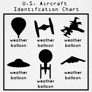 US Aircraft Identification Chart (UFOs) T-Shirts - Adjustable Apron