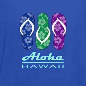 ALOHA - Hawaiian Flip Flops - Women's Flowy Tank Top by Bella