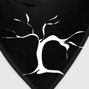 Branched tree - white T-Shirts - Bandana