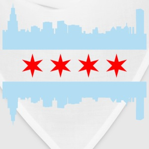 Chicago Flag Skyline - Bandana