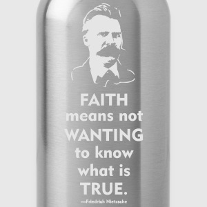Friedrich Nietzsche: Faith T-Shirts - Water Bottle