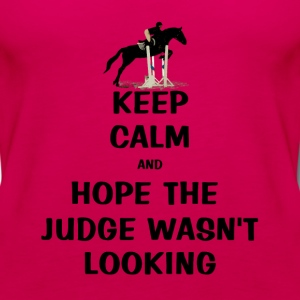 Keep Calm and Hope The Judge Wasn't Looking Kids' Shirts - Women's Premium Tank Top