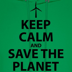 Keep Calm and Save The Planet - Men's Hoodie