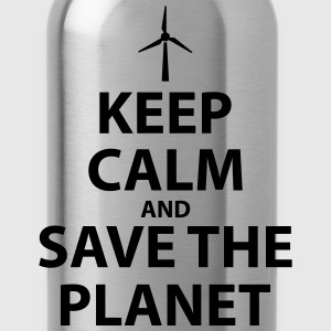 Keep Calm and Save The Planet - Water Bottle