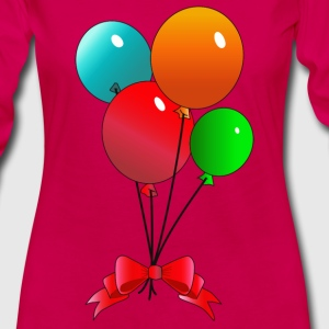 Balloons (add your own text) - Women's Premium Long Sleeve T-Shirt