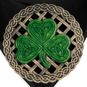 Black Celtic Shamrock Shirt - Bandana