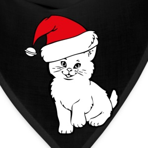cat santa T-Shirts - Bandana