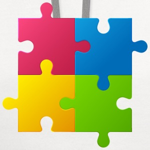 colorful children jigsaw puzzle - Contrast Hoodie