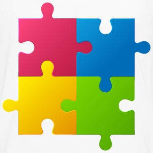 colorful children jigsaw puzzle - Men's Premium Long Sleeve T-Shirt