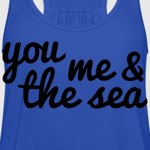you, me and the sea Kids' Shirts - Women's Flowy Tank Top by Bella