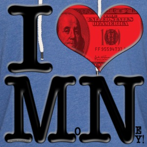 I Love MN - MoNey (for light-colored apparel) T-Shirts - Unisex Lightweight Terry Hoodie
