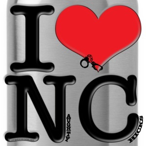 I Love NC - Naughty Chicks (for light apparel) T-Shirts - Water Bottle