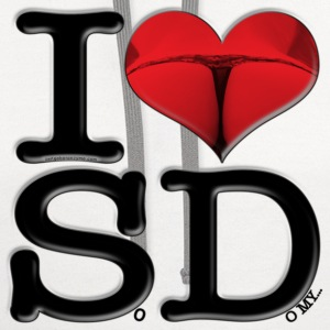 I Love SD - SoDomy (for light-colored apparel) T-Shirts - Contrast Hoodie