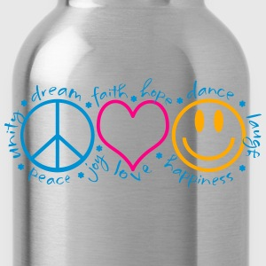 Peace Love Laugh - Water Bottle