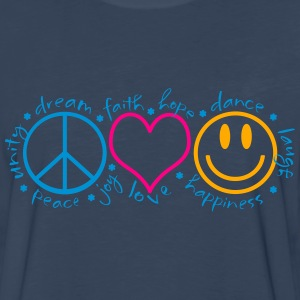 Peace Love Laugh - Men's Premium Long Sleeve T-Shirt