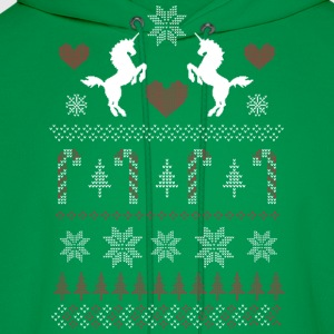 Ugly Christmas Sweater Unicorn - Men's Hoodie