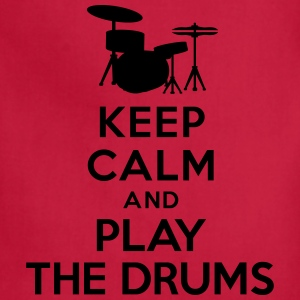 Keep calm and play the drums T-Shirts - Adjustable Apron