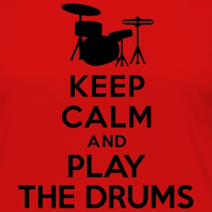 Keep calm and play the drums T-Shirts - Women's Premium Long Sleeve T-Shirt