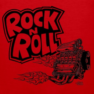 rock_n_roll_with_blown_engine T-Shirts - Men's Premium Tank