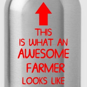 AWESOME FARMER T SHIRT MENS LADIES XMAS GIFT DI 00 - Water Bottle