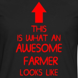 AWESOME FARMER T SHIRT MENS LADIES XMAS GIFT DI 00 - Men's Premium Long Sleeve T-Shirt