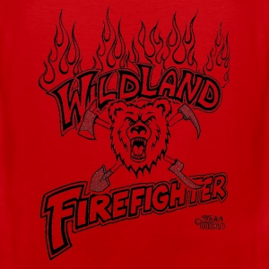 wildland_firefighter_with_bear_shovel T-Shirts - Men's Premium Tank