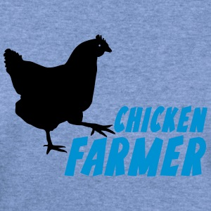chicken Farmer Farming Agriculture T-Shirts - Women's Wideneck Sweatshirt