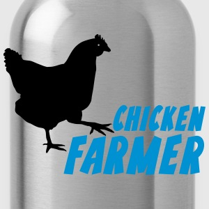 chicken Farmer Farming Agriculture T-Shirts - Water Bottle