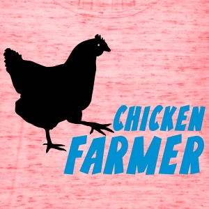 chicken Farmer Farming Agriculture T-Shirts - Women's Flowy Tank Top by Bella