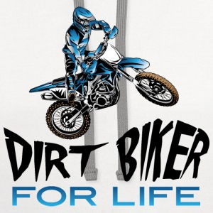 Dirt Biker For Life Blue Baby & Toddler Shirts - Contrast Hoodie