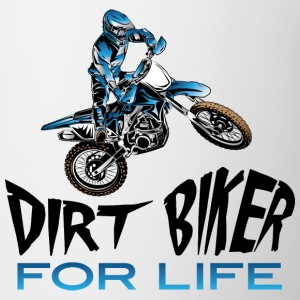 Dirt Biker For Life Blue Baby & Toddler Shirts - Coffee/Tea Mug